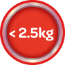 Less Than 2.5 kg